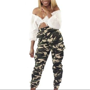 Pants - NEW Womens Military Camo Camouflage Cargo Pants